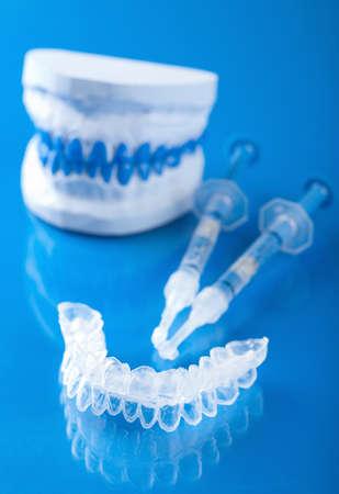 individual set for teeth whitening  photo