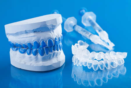 tooth care: individual set for teeth whitening