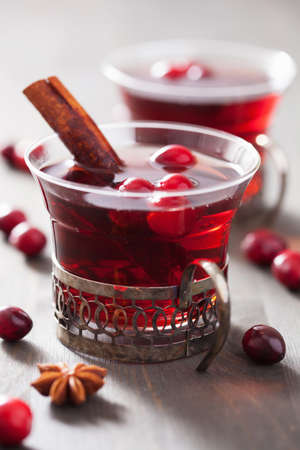 mulled: mulled wine with cranberry and spices