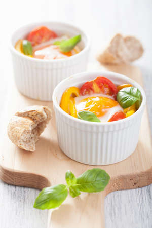 baked eggs with tomatoes and paprika Stock Photo - 25292531