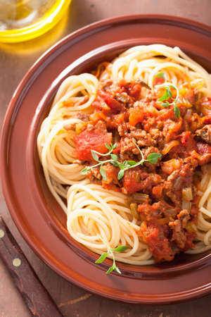 italian pasta spaghetti bolognese Stock Photo