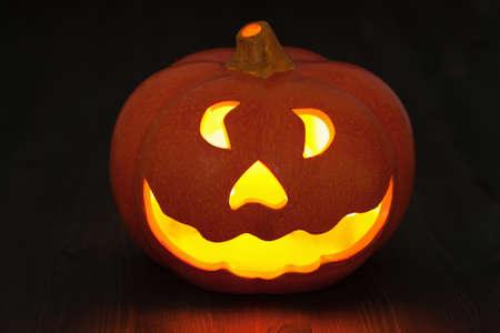 jack o lantern: Halloween Jack O Lantern pumpkin Stock Photo