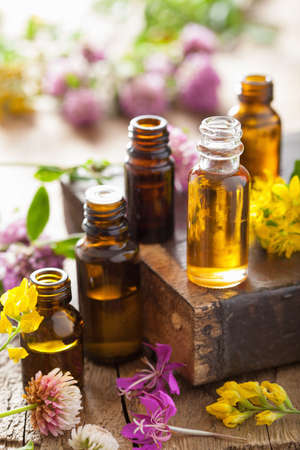 essential oils and medical flowers herbs  photo