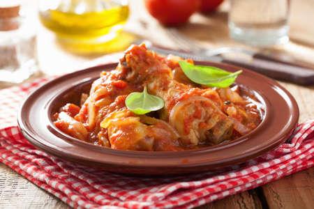 pollo rostizado: pollo a la cazadora italiano