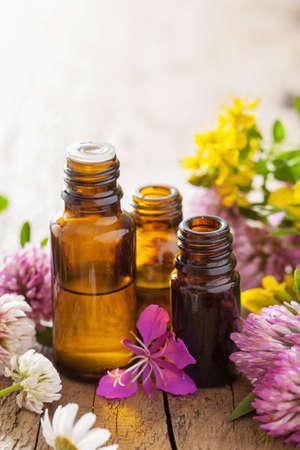 Etherische oliën en medische bloemen kruiden Stockfoto - 39330877