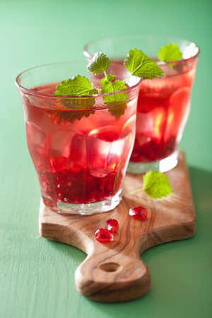 melissa: summer pomegranate drink with melissa