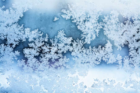 rime frost: winter ice rime abstract background