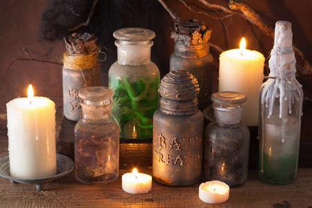 animal ritual: witch apothecary jars magic potions halloween decoration