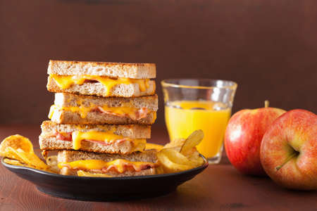 melted cheese: grilled cheese and bacon sandwich