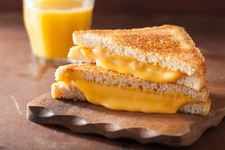 homemade grilled cheese sandwich for breakfast Imagens