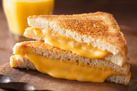 homemade grilled cheese sandwich for breakfast 写真素材