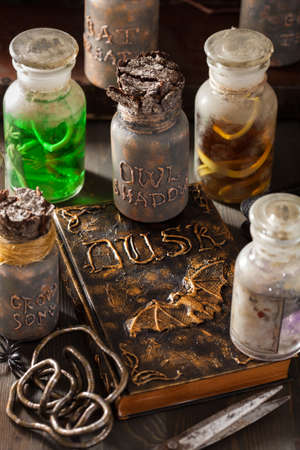 apothecary: witch apothecary jars magic potions halloween decoration