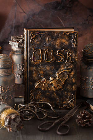 poison snakes: witch apothecary jars magic potions book halloween decoration