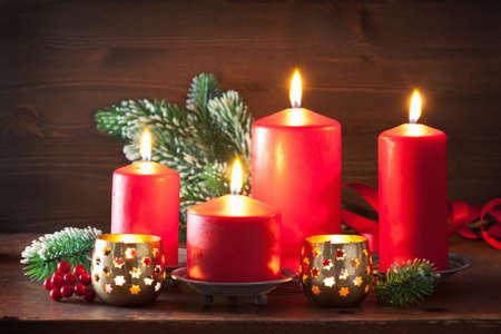 la decoración de navidad velas linterna
