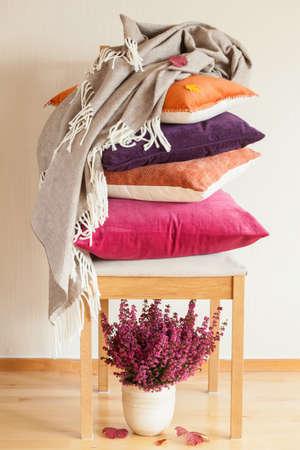 throw cushion: colorful cushions throw cozy home autumn mood flower leaf