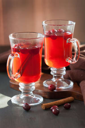 tea hot drink: hot cranberry tea with cinnamon warming drink