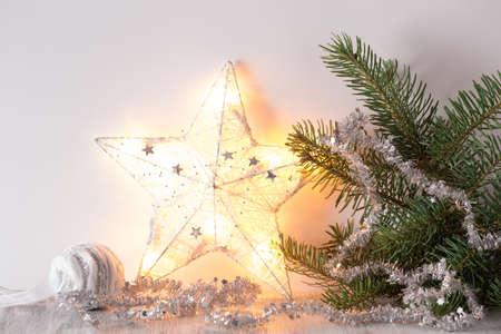 Wit zilver kerst cadeau decoratie