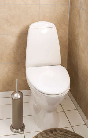 WC bianco in bagno moderno