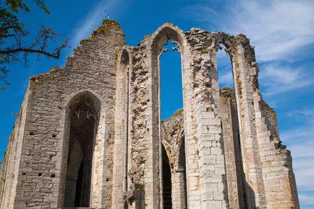 Ruin of Saint Nicolas church, Visby on island Gotland, Sweden Imagens