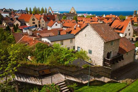 Visby Stadt in Gotland, Schweden Standard-Bild - 82857305