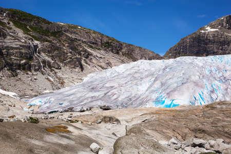 Nigardsbreen glacier in summer, Norway Stok Fotoğraf