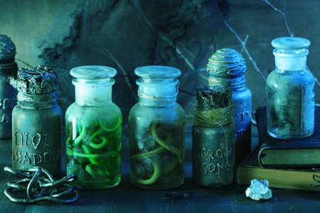 마녀 약병 항아리 마법의 묘약 할로윈 장식