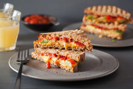 grilled cheese sandwich with avocado and tomato Stock fotó