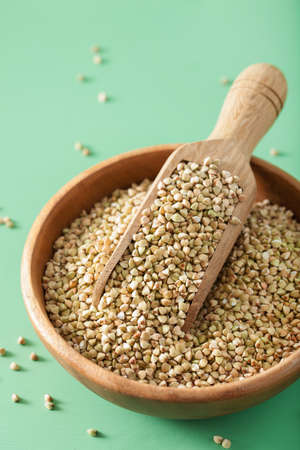 raw green buckwheat healthy ingredient