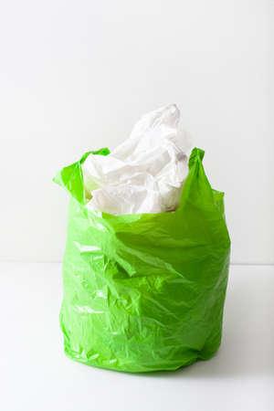 Disposable plastic bag, waste, recycling, environmental issues Фото со стока - 125023711