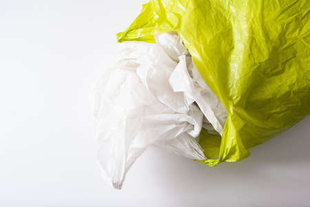 disposable plastic bag, waste, recycling, environmental issues Banco de Imagens