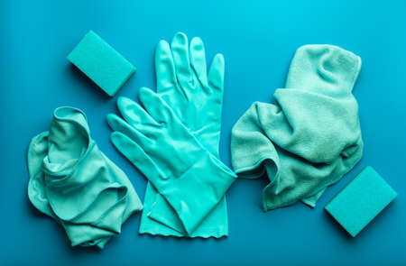 cleaning products household  sponge glove cloth