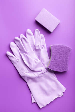 cleaning products household  sponge glove