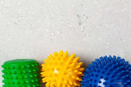 massage rubber balls for self massage and reflexology