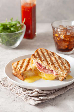 grilled ham and cheese sandwich Reklamní fotografie