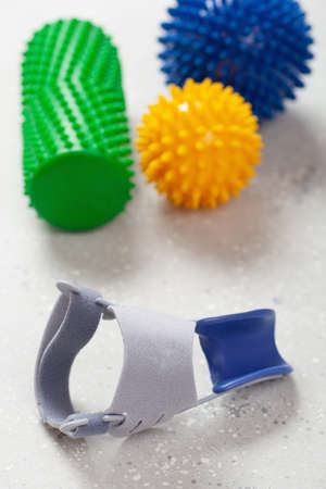 Toe separator hallux valgus and massage rubber balls for self massage and reflexology