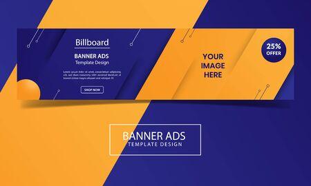 billboard or banner ads template design