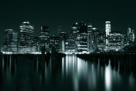 newyork: Manhattan at night, New York, USA Stock Photo