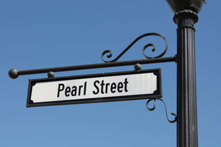 Pearl Street Sign Imagens