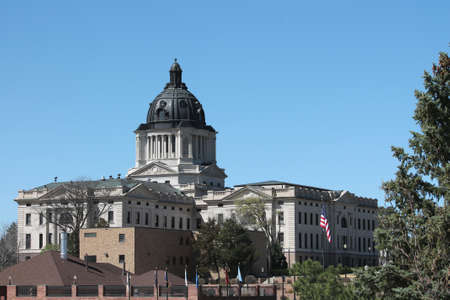 View of the South Dakota State Capitol Complex 版權商用圖片 - 13000435