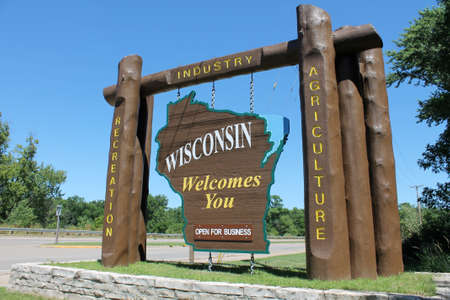 Welcome to Wisconsin Sign Stock Photo - 15842127