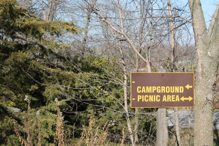 campground: Campeggio Tavoli Sign at State Park