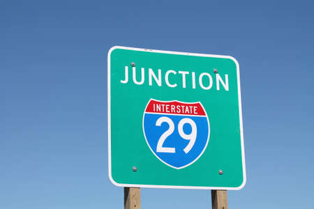 Interstate 29 Junction Sign Banco de Imagens