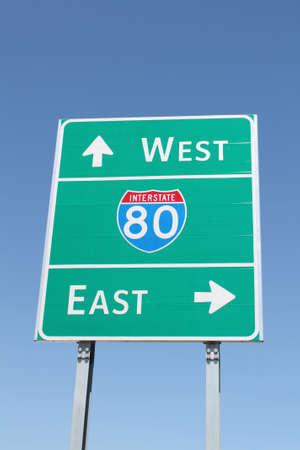 interstate 80: Interstate 80 Sign