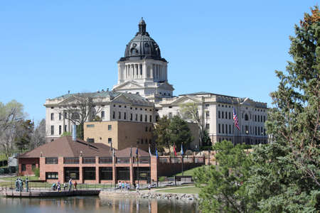 South Dakota State Capitol Complex in Pierre, SD 新聞圖片