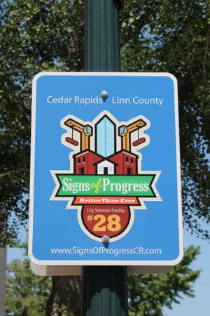 Cedar Rapids Iowa Signs of Progress