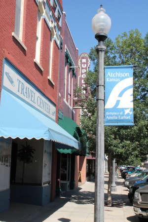 Downtown Atchison Kansas Main Street Editorial