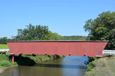 covered bridge': Covered Bridge in Madison County, Iowa Stock Photo