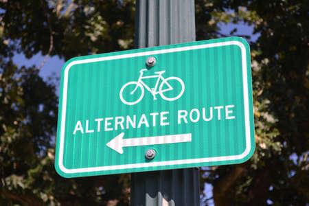 alternate: Bike Alternate Route Sign