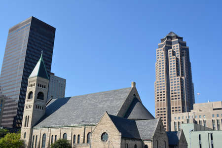 iowa: Skyline of Des Moines Iowa