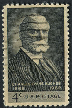 usps: United States of America-Circa 1962  A postage stamp commemorating the 100th birthday of former Supreme Court Chief Justice Charles Evan Hughes